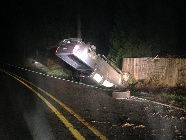 Thomas Green's DUII crash (Clackamas County Sheriff's Office)
