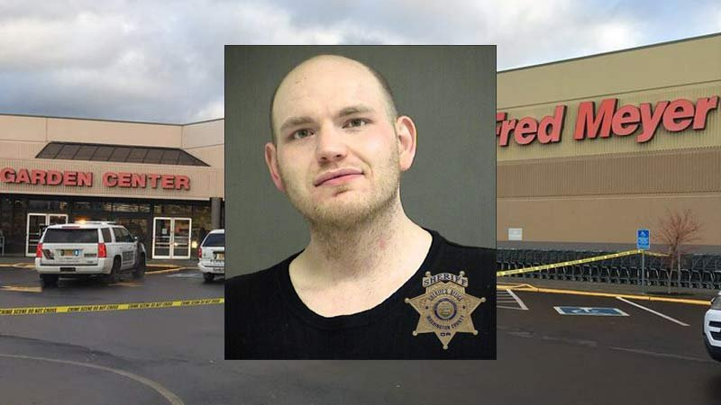 Samuel Lund is facing charges including attempted murder (Jail booking photo, scene photo/KPTV)