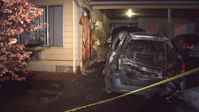 Car catches fire at Beaverton apartment complex, police investigating as arson