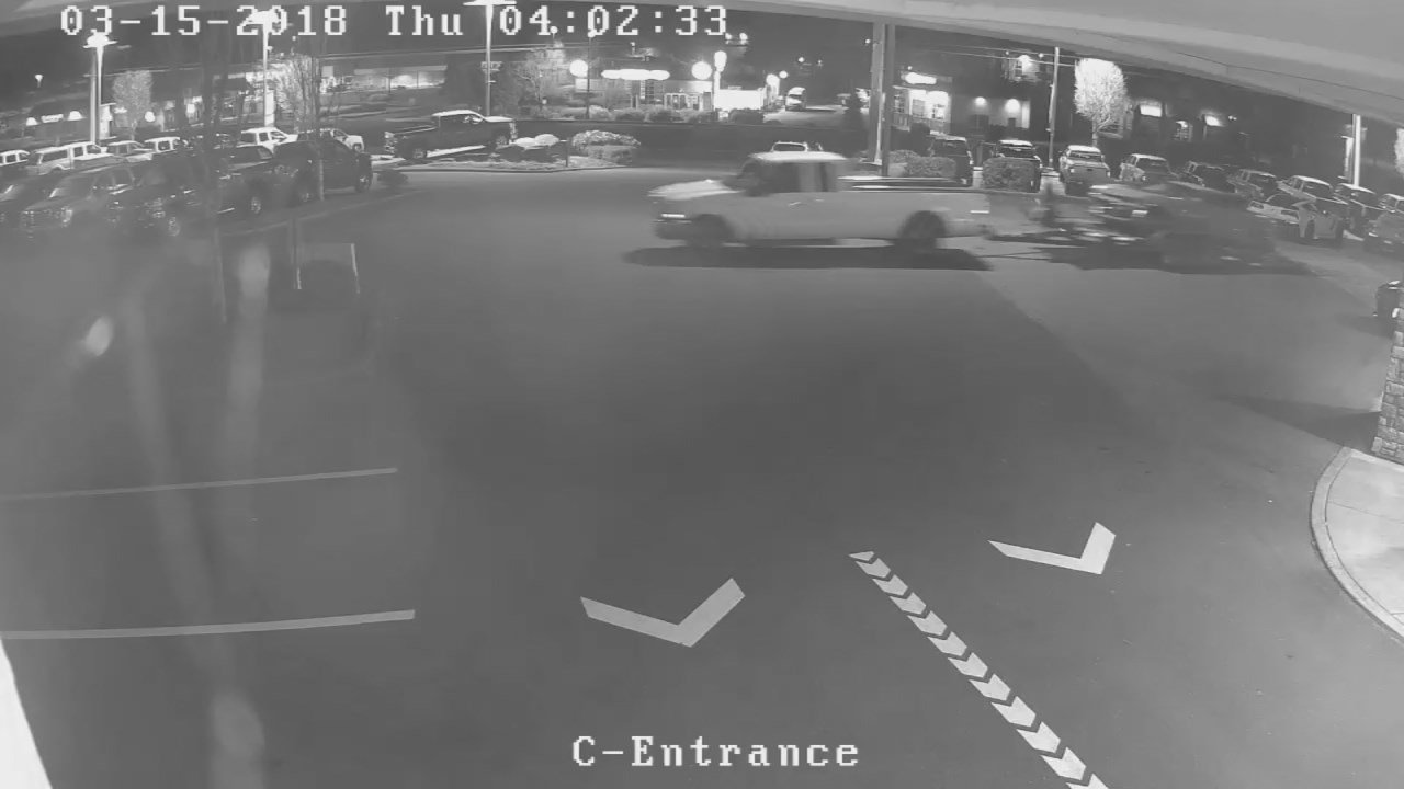Surveillance image: Suburban Chevrolet in Sandy (KPTV)