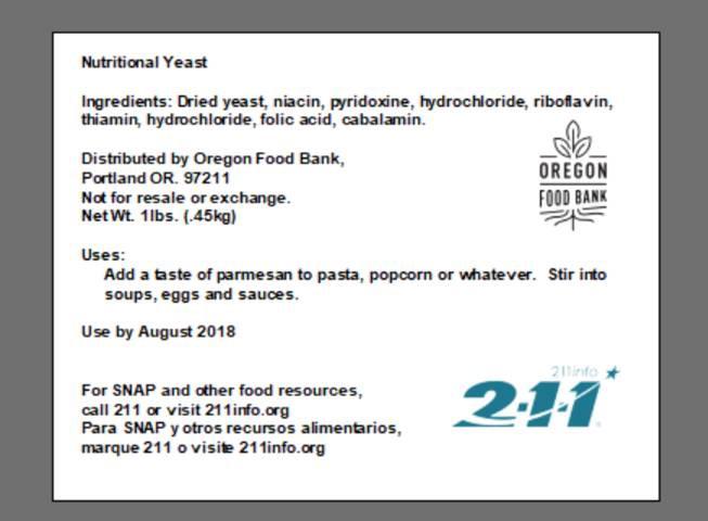 Courtesy: Oregon Food Bank