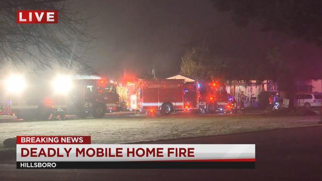 Woman dies in Hillsboro mobile home fire