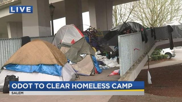ODOT conducts sweep of Salem homeless camp