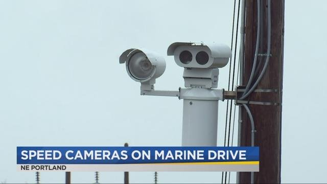 Cameras installed on NE Marine Drive to catch speeding drivers