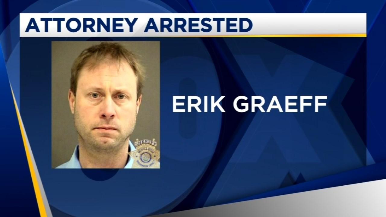 (KPTV Image) Erik Graeff, jail booking photo released by Beaverton Police Department.