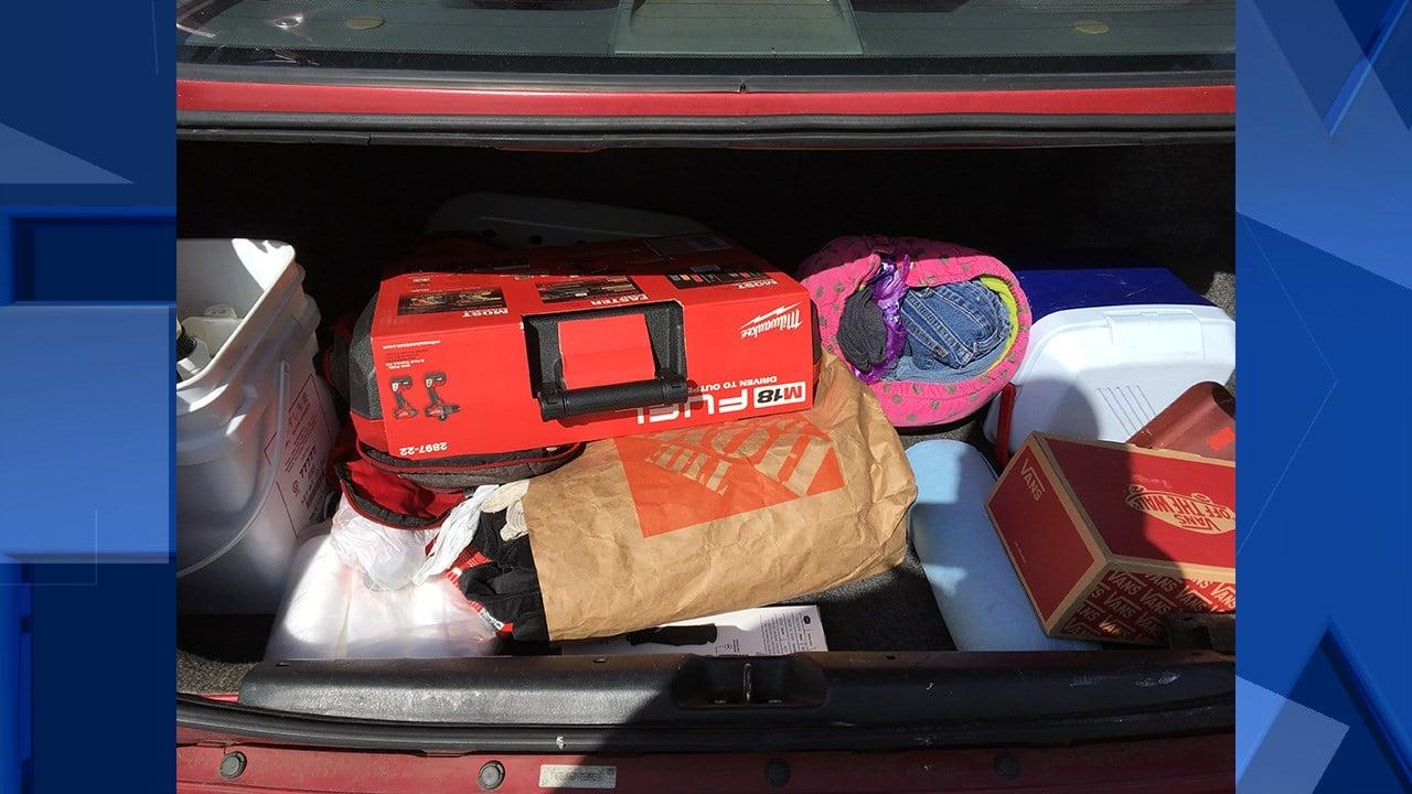 Stolen merchandise (Beaverton Police Department)