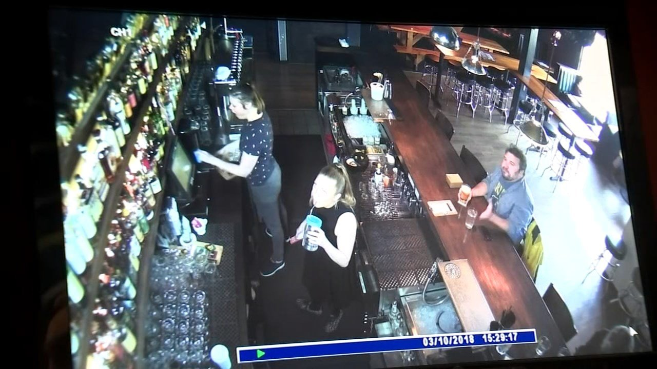 Surveillance footage provided by C-Bar