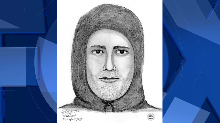 Sketch of the suspect that robbed Mountain Air Motel at gunpoint (Clackamas County Sheriff's Office)