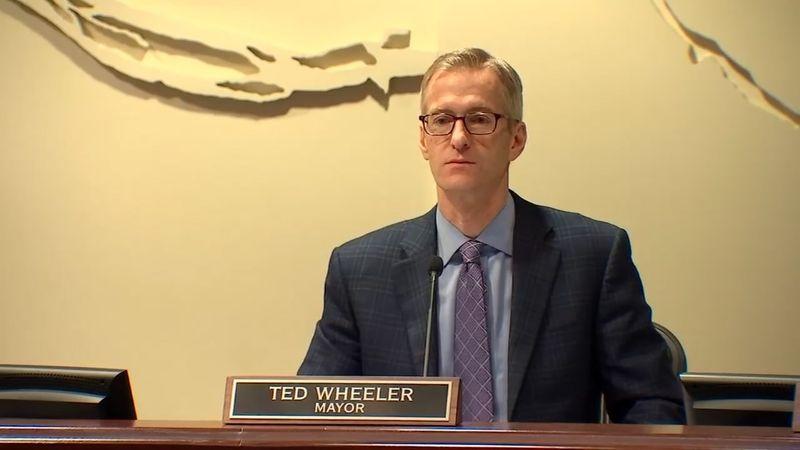 Portland Mayor Ted Wheeler. KPTV file photo.