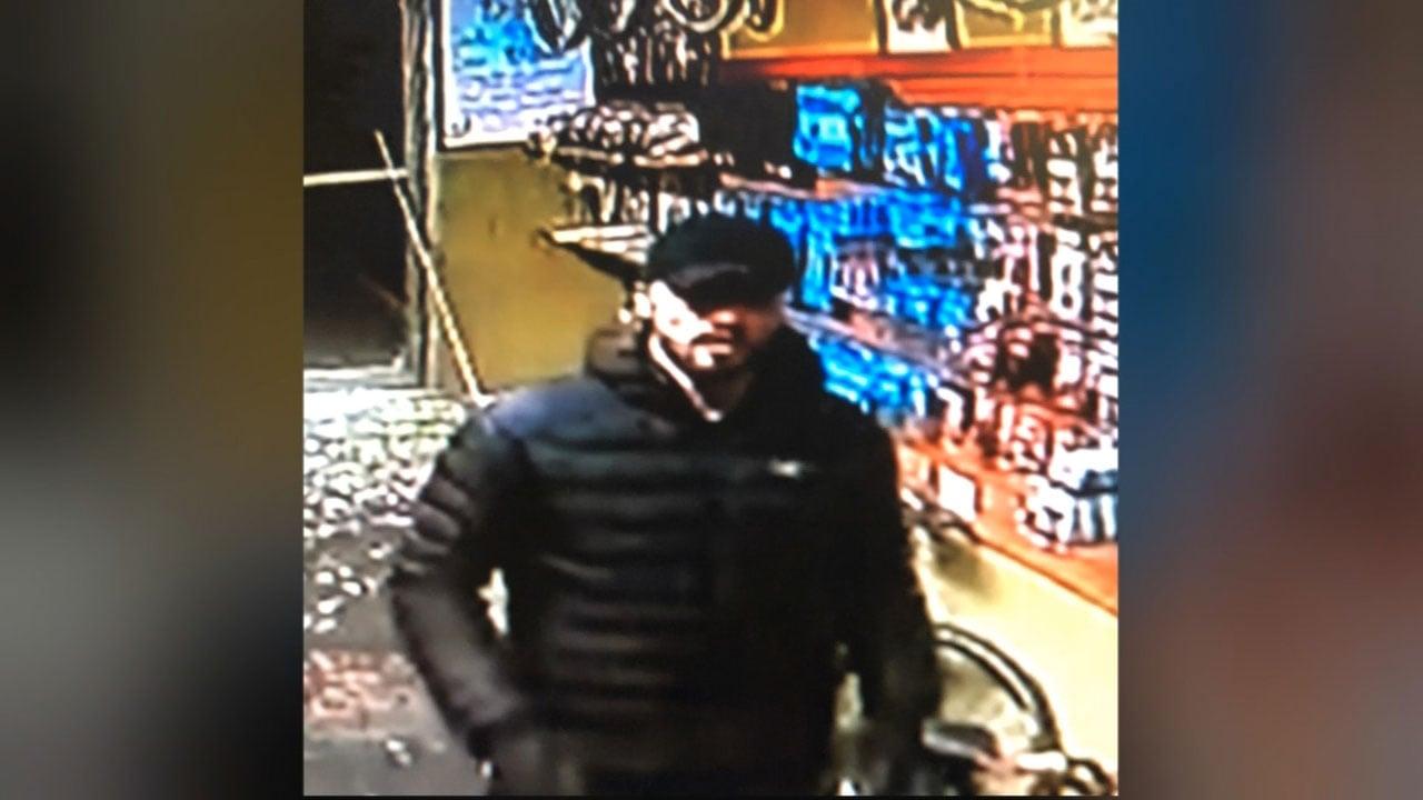 Surveillance image of theft suspect