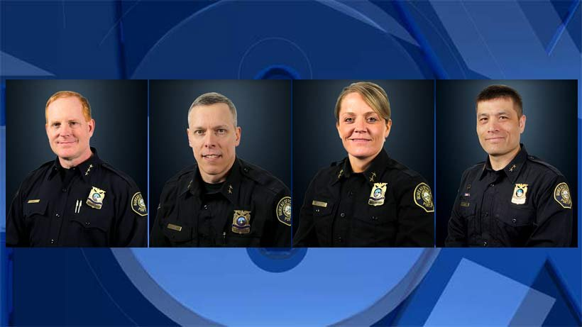 Photos provided by the Portland Police Bureau: Bob Day, Chris Davis, Jami Resch, Ryan Lee
