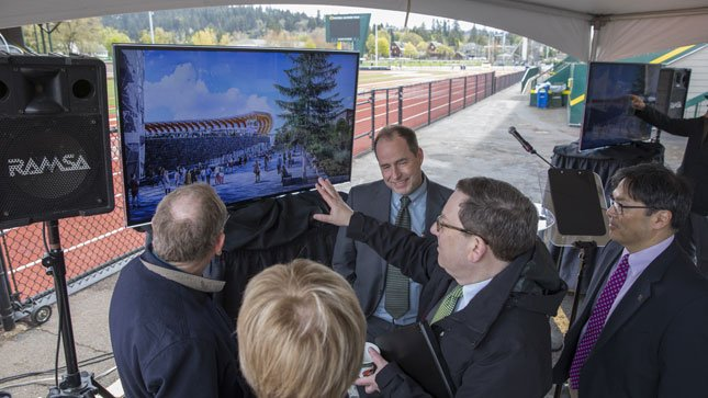 UO unveils new design for Hayward Field