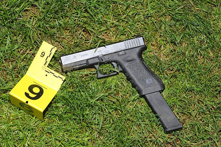 Firearm found at the scene and seized by police (Image: Portland Police Bureau)