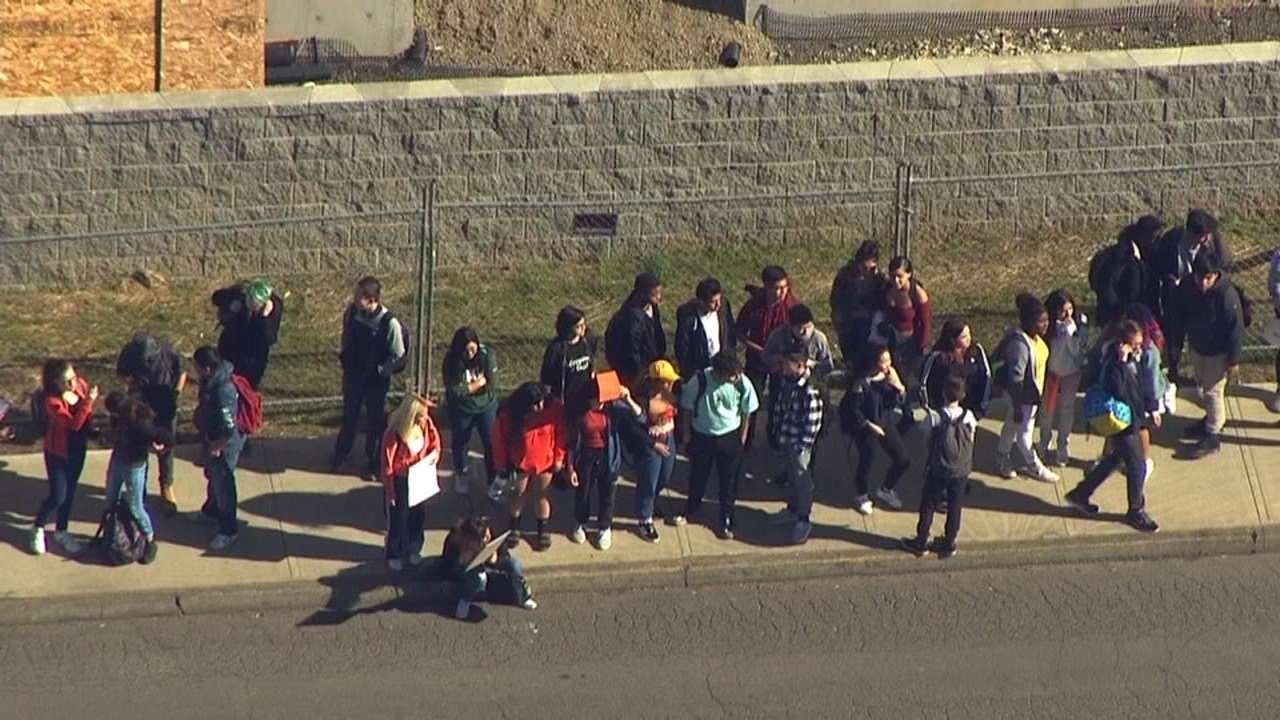 Students from David Douglas High School participating in the nationwide walkout (AIR 12/KPTV)