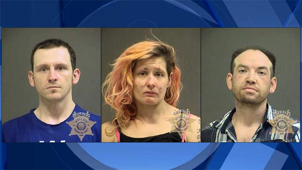 Levi Collins, Brooke Knapp, Kent Patterson, jail booking photos
