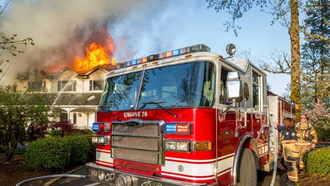 Photo courtesy Greg Muhr, Volunteer Photographer with Gresham Fire