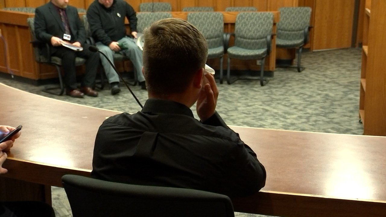 Dawson Dunn was convicted of second-degree manslaughter in court Thursday. (KPTV)