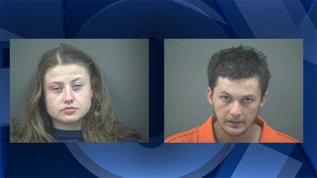 Destiny Honer (left) and Marcus West (right), booking photos.