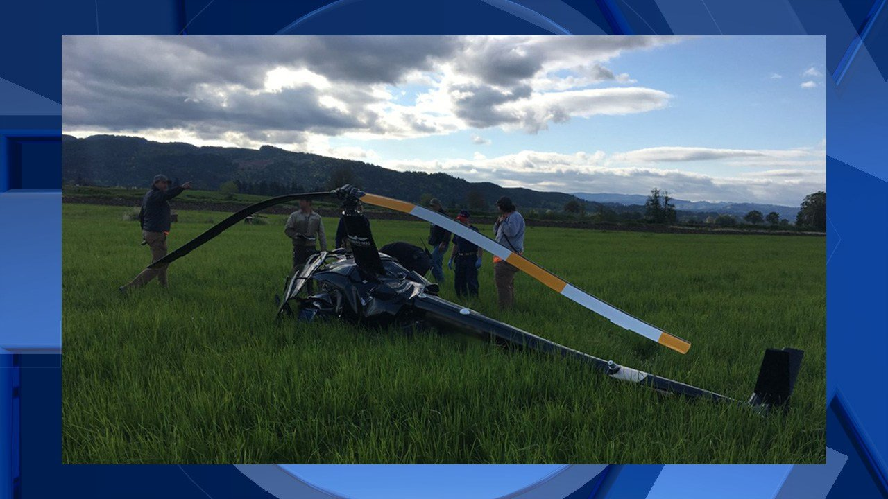Helicopter crashes on Sauvie Island; pilot injured