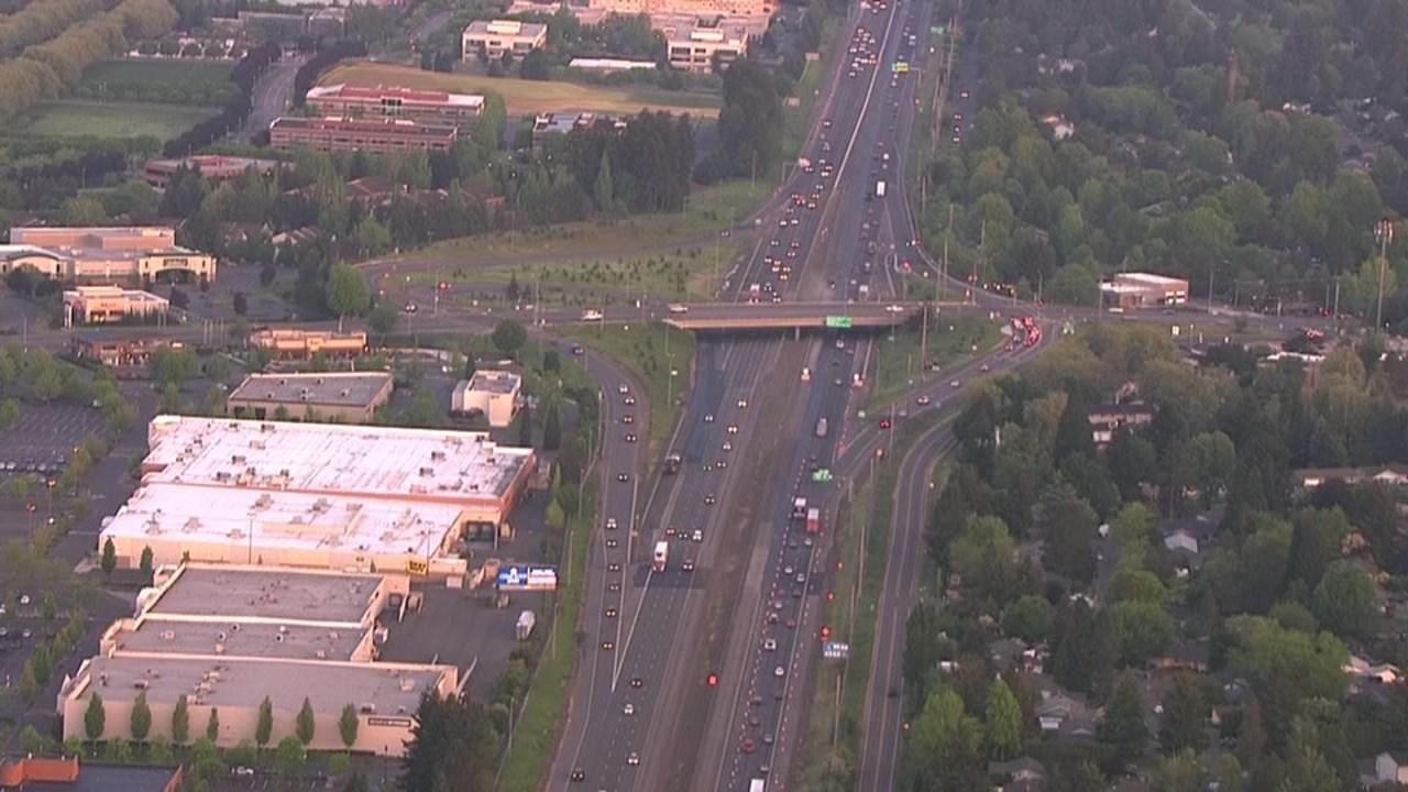 Aerial views of where the crash happened (KPTV/AIR 12)