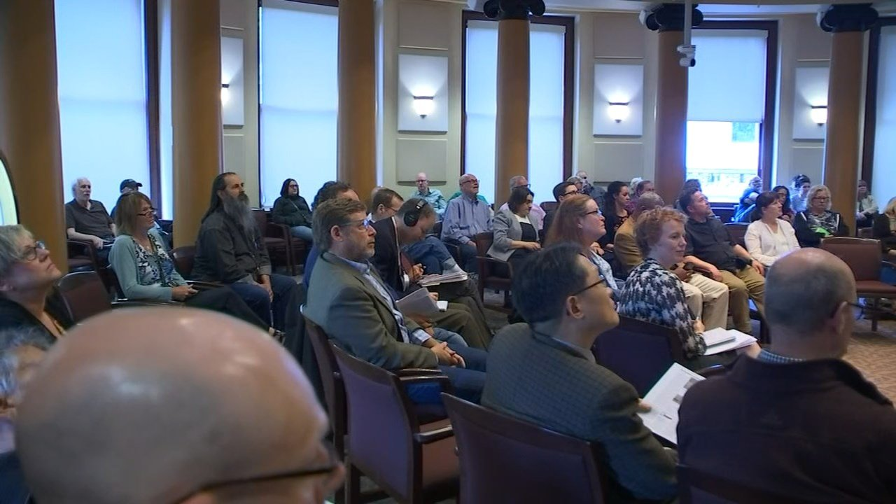 Building owners spoke at a council meeting Wednesday afternoon, voicing their fears of the financial burden new requirements could impose. (KPTV photo).