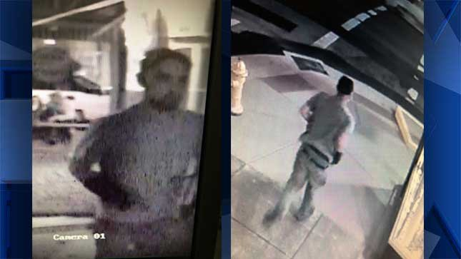 Officers say the suspect, a white man, caused more than $5,500 in damages. (Photos provided by Albany police).