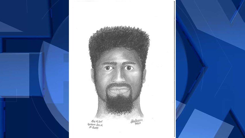 Sketch of the second suspect (Image: Gresham Police Department)