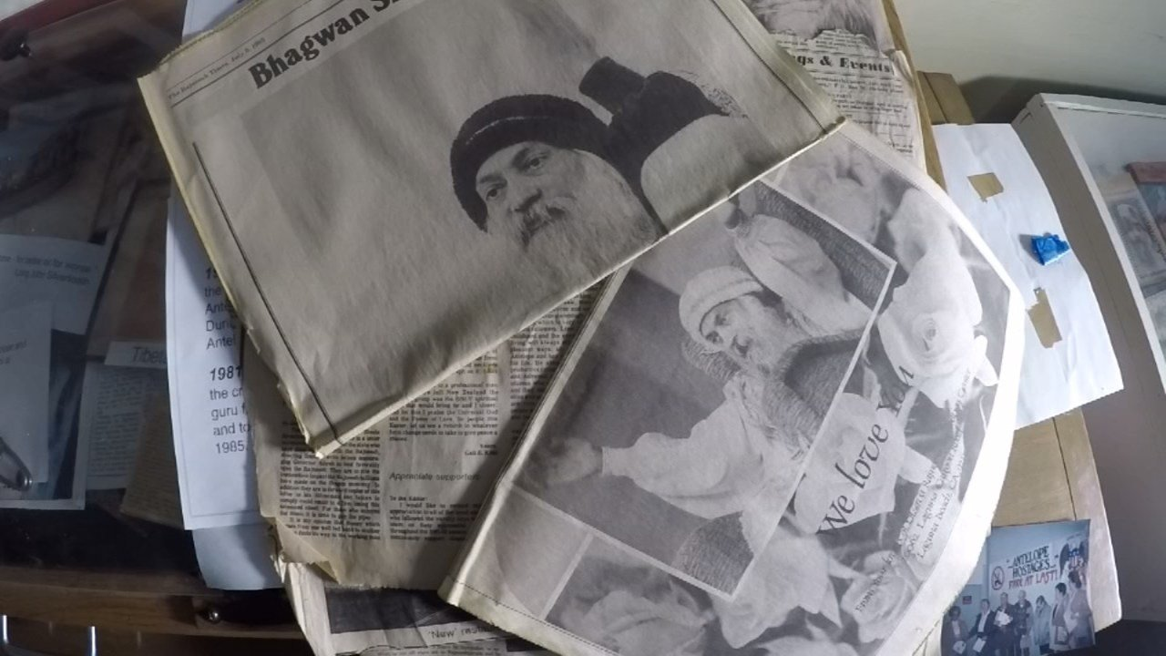 Bhagwan newspaper clippings kept by John Silvertooth. (KPTV)