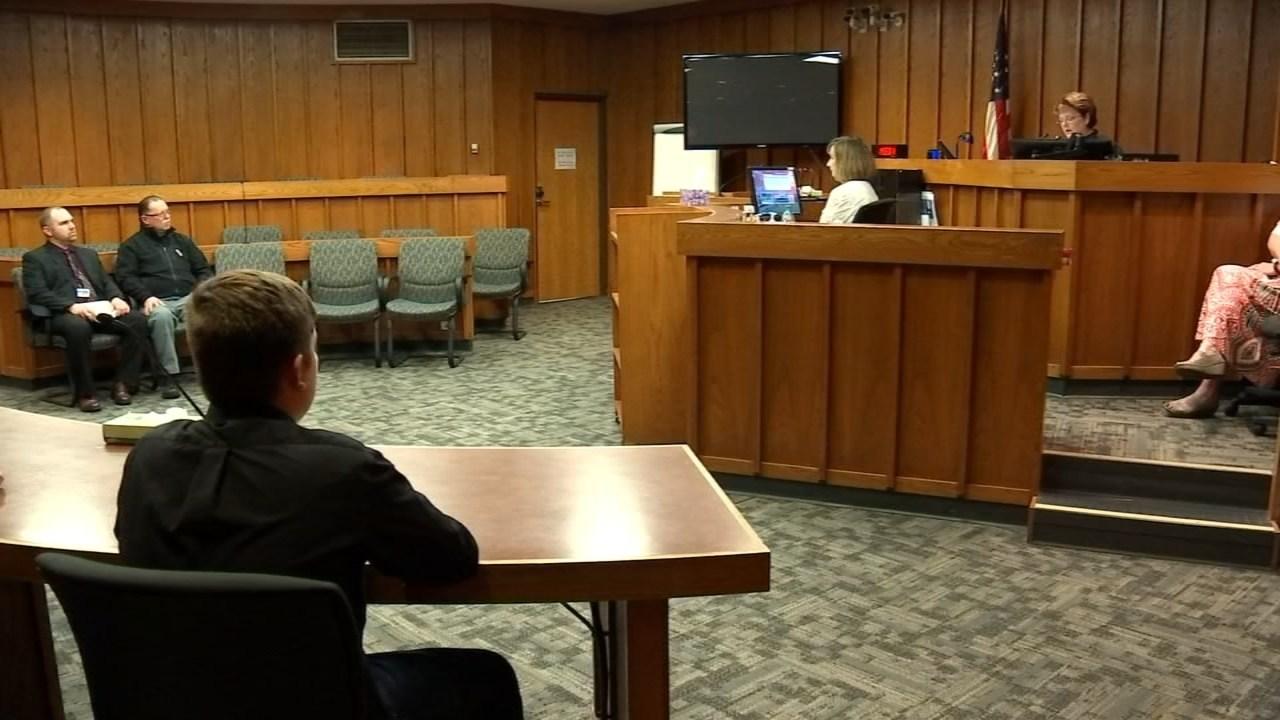 Dawson Dunn in court last month. (KPTV)