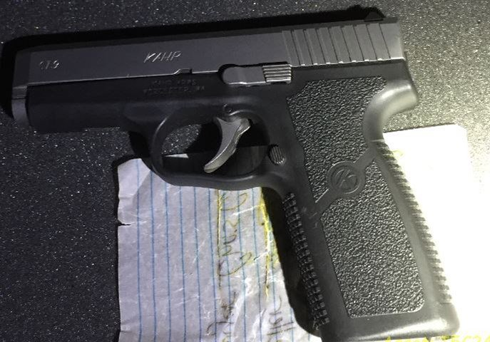 One of the firearms seized during the shooting investigation (Courtesy: Portland Police Bureau)