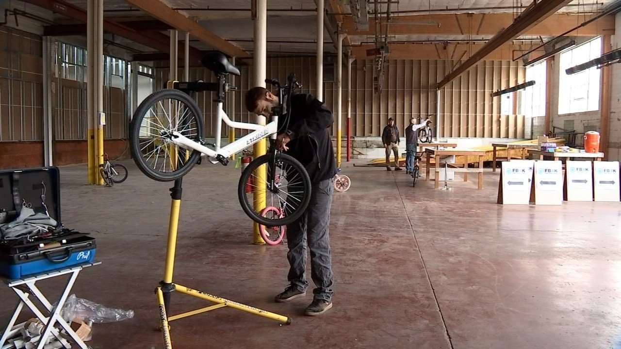 The bikes will be stored in a warehouse, refurbished by volunteers and donated at no cost. KPTV photo.