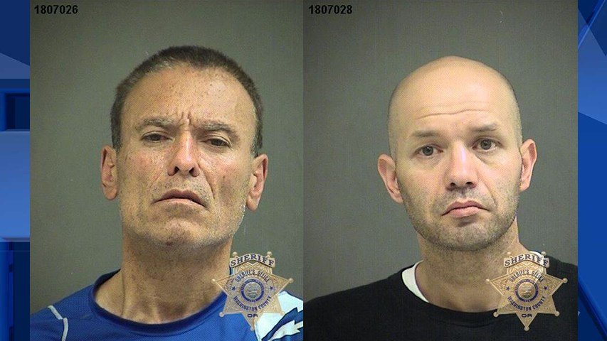 Curtis Vanzee and Kenny Ross, booking photos (Courtesy: Washington County Sheriff's Office)