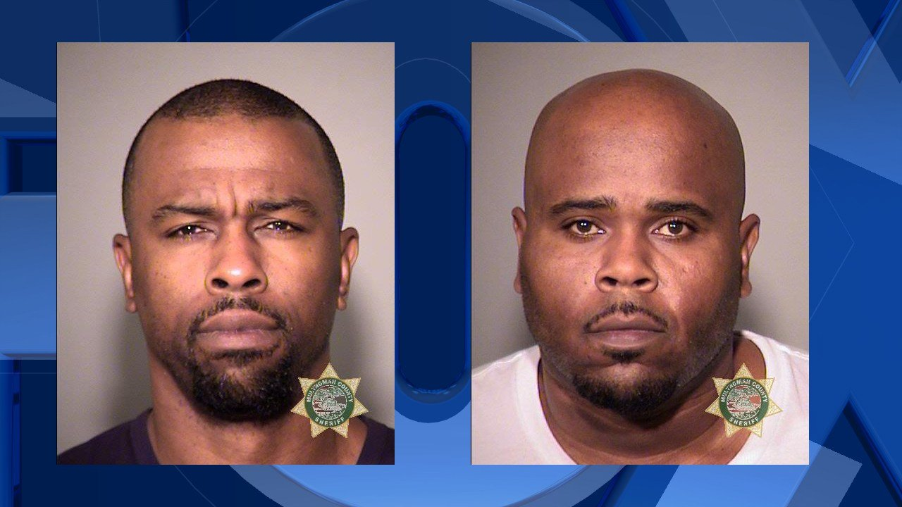 Herring Booking Photo Ervan: Left Michael: Right (Portland Police Bureau)