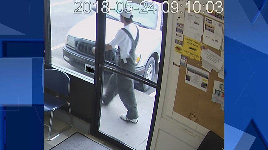 Surveillance image of the suspect (Courtesy: Woodburn Police Department)