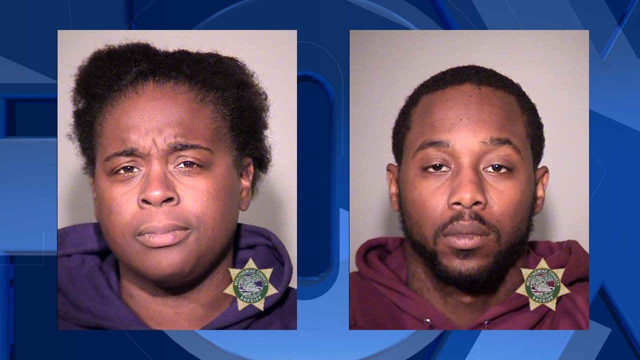Molett and Cabine booking photo (Multnomah County Sheriff's Office)