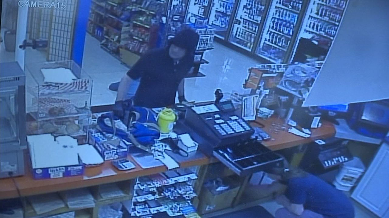 Surveillance image of one of the suspects (Image: Stan's Market)