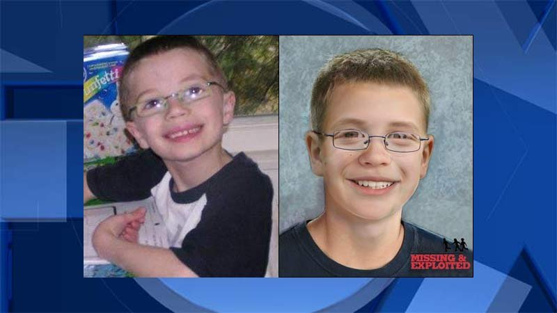 Family photo of Kyron Horman on left, age progression photo on right released by National Center for Missing & Exploited Children of Kyron at age 14. (KPTV)