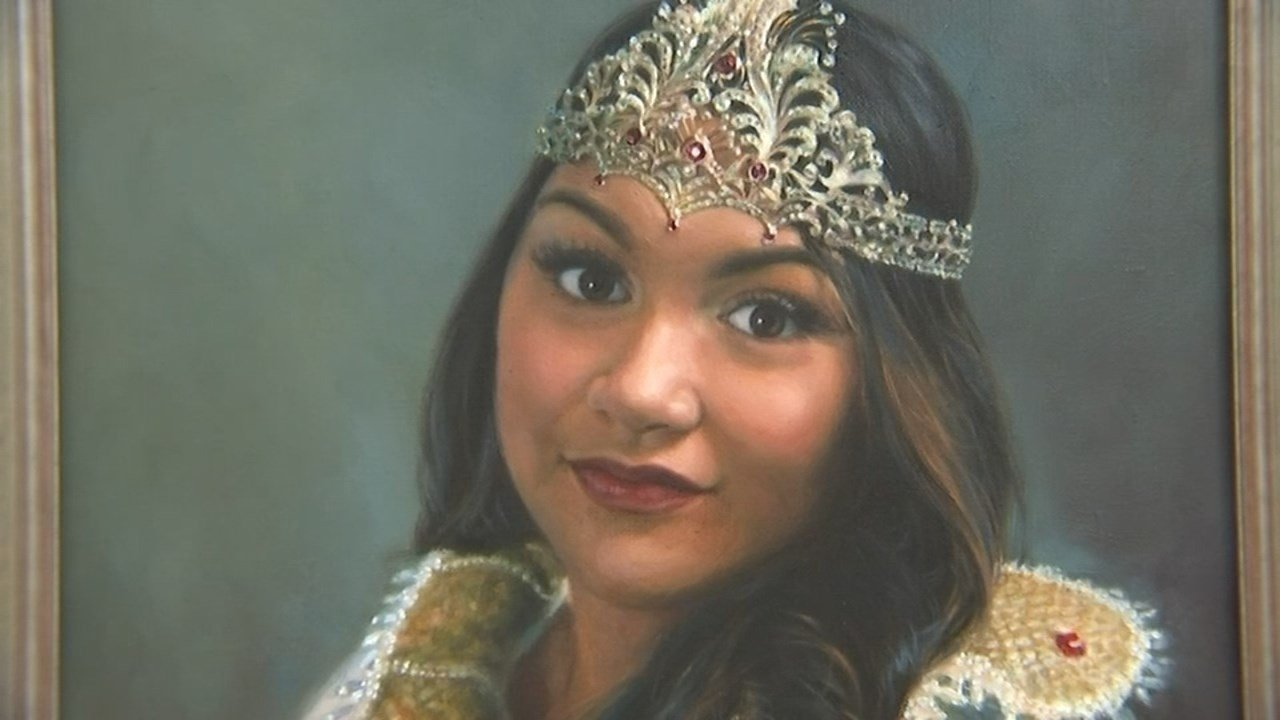 One of the most anticipated releases this year was the portrait of last year's Rose Festival Queen, Michaela Cantete. (KPTV photo).