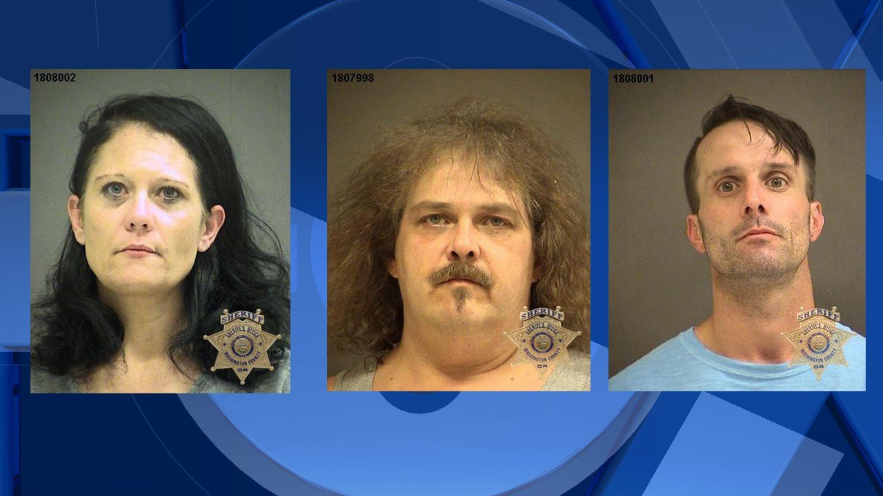 Vandolah, Starry, and Faulkner booking photo (Image: Washington County Sheriff's Office)