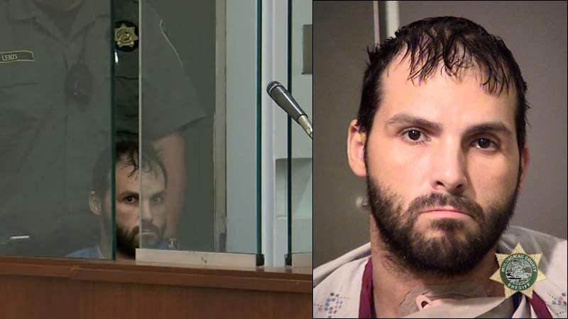 Vasile Manta in court Thursday and jail booking photo. (KPTV)