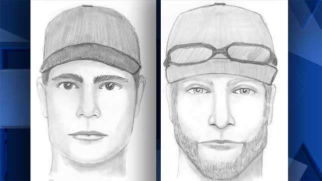 Sketches provided by the Marion County Sheriff's Office.