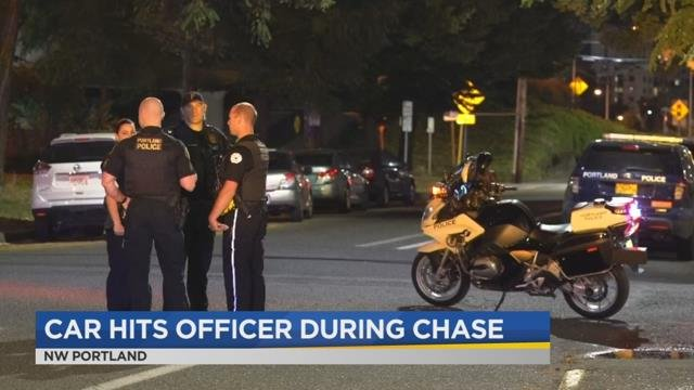 Police: Officer hit by vehicle while chasing suspect on foot in NW Portland