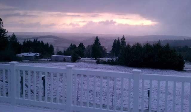 Cornelius snow | Photo courtesy Matthew Brown