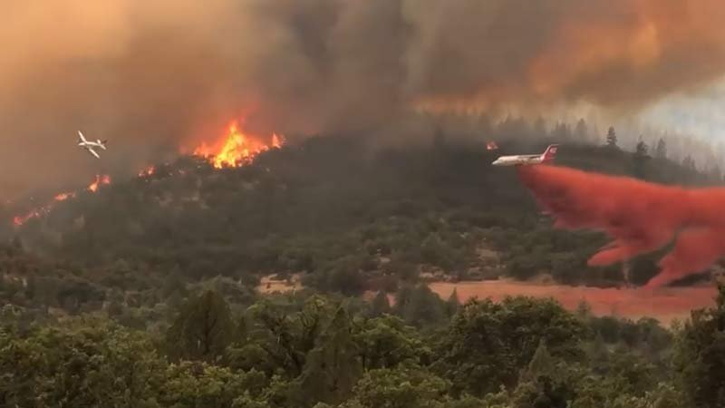 Klamathon Fire kills 1; dozen wildfires dot California
