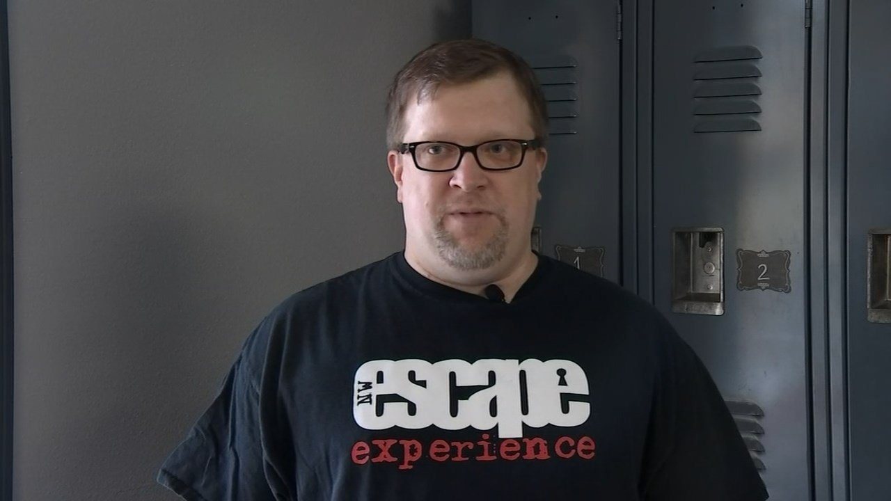 Rob Bertrand and his wife, Tamara, own the escape room, Northwest Escape Experience, which is located in a Vancouver strip mall. (KPTV photo).