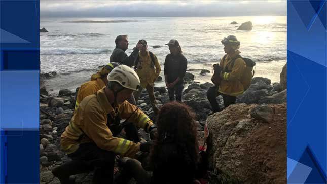Missing woman found on beach near Big Sur