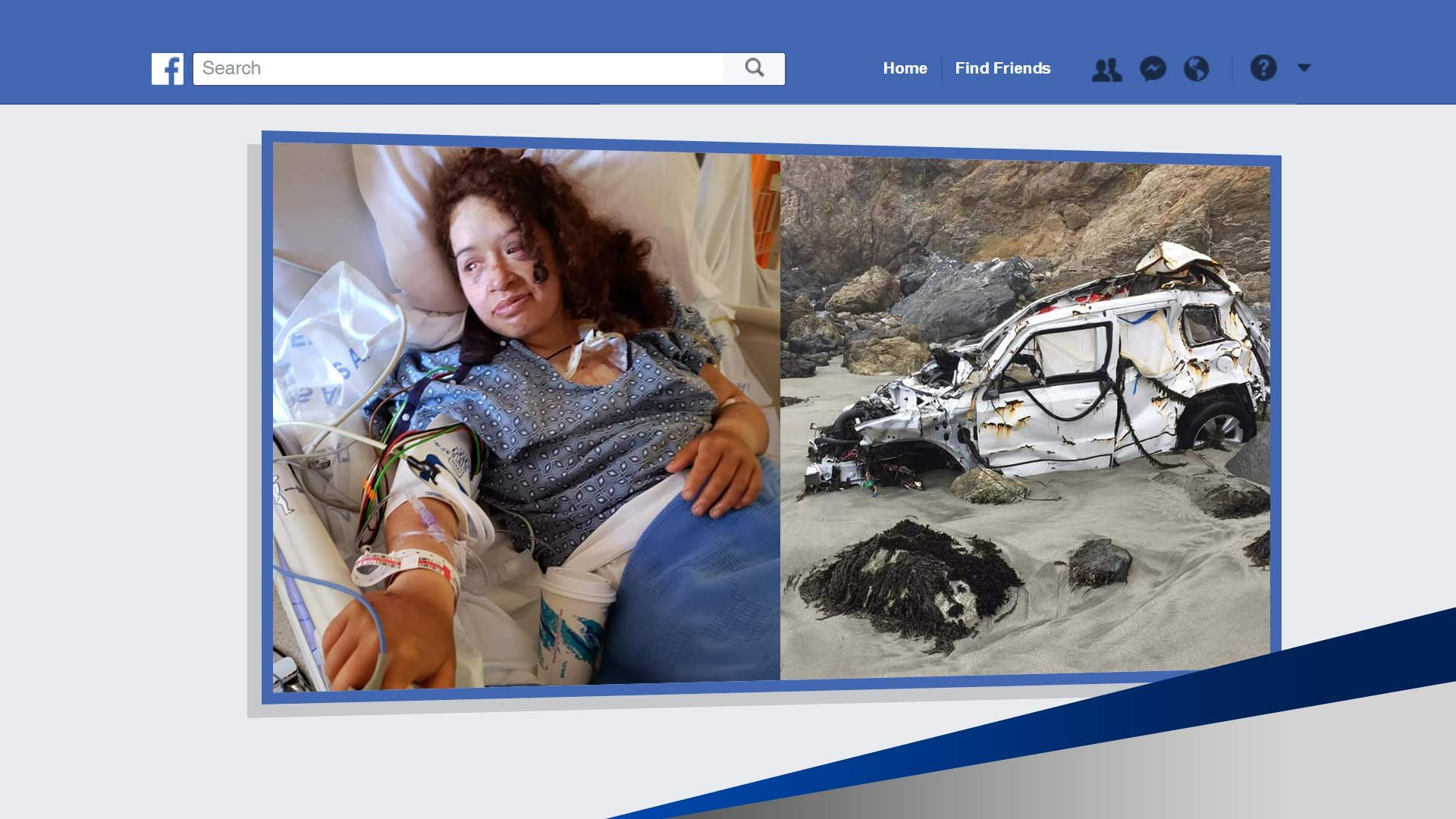 Woman survives for a week after crashing auto off 200-foot cliff
