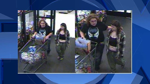Eric Timmerman and Jessica Edwards seen on surveillance video (Image: Beaverton Police Department)