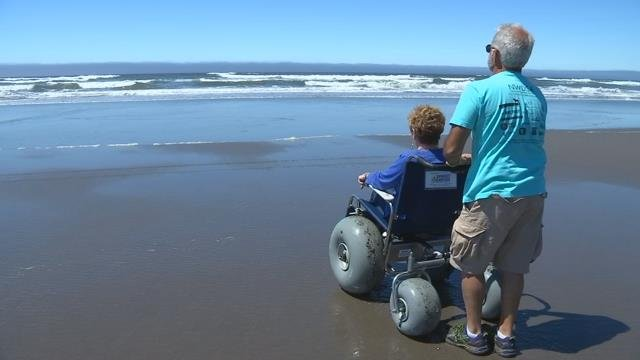 Free specialized beach wheelchairs programs available in Seaside, Gearhart