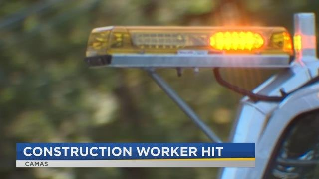 Impatient driver hits flagger waving stop sign in Camas